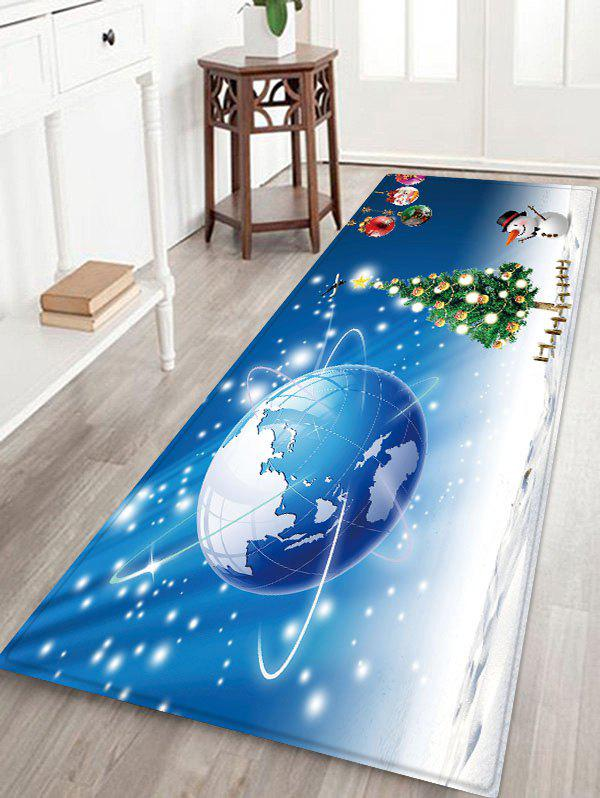 2019 Christmas Tree Earth Pattern Water Absorption Area Rug