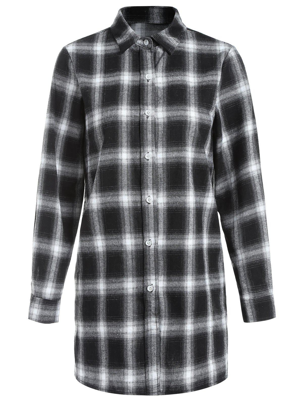 Outfits Long Sleeve Tartan Shirt