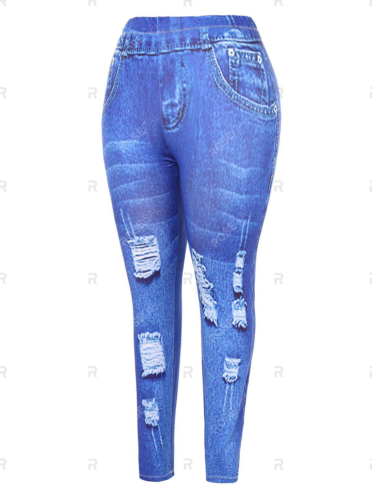 Fancy Plus Size High Waisted 3D Graphic Leggings