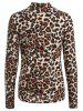 Leopard High Neck T Shirt -