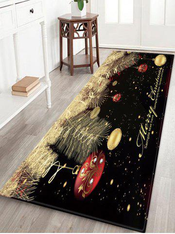 Christmas Hanging Balls Pattern Water Absorption Area Rug