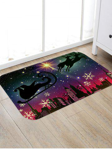 Christmas City Night Pattern Water Absorption Area Rug