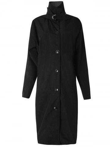 Button Up Longline Trench Coat