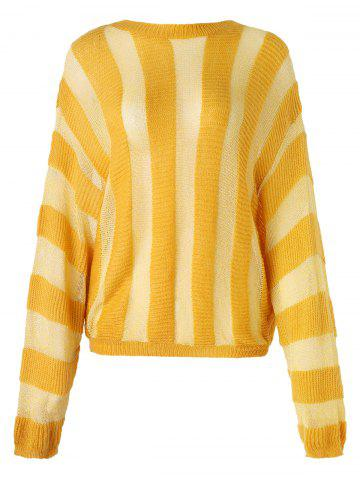 Striped Batwing Sleeve Sweater