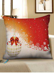 Bauble and Snowflakes Print Christmas Pillow Case -