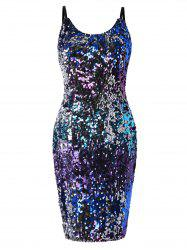 Cami Straps Slim Sequined Club Dress -