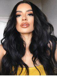Long Center Parting Wavy Party Capless Human Hair Wig -