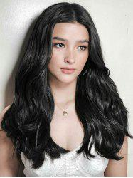 Long Middle Part Natural Wavy Party Human Hair Wig -