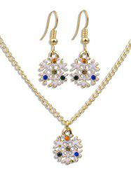Colored Snowflake Christmas Party Jewelry Set -