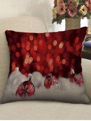 Christmas Baubles Print Throw Pillow Case -