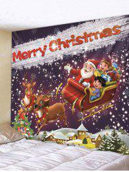 Father Christmas Deer Gift Print Tapestry Art Decoration -