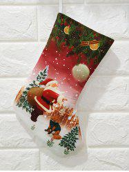 Christmas Theme Print Gift Stocking Decoration -