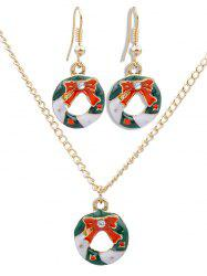 Christmas Bowknot Rhinestone Party Jewelry Set -