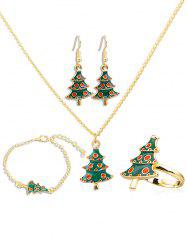 Stylish Christmas Tree Alloy Jewelry Set -