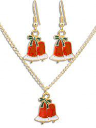 Christmas Bell Alloy Party Jewelry Suit -
