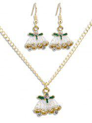 Christmas Bell Rhinestone Alloy Jewelry Set -