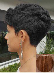 Short Inclined Bang Natural Straight Human Hair Wig -