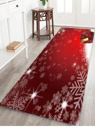 Christmas Snowflake Pattern Anti-skid Water Absorption Area Rug -