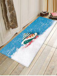 Christmas Snow Pattern Water Absorption Area Rug -