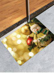 Christmas Ball Snowman Pattern Water Absorption Area Rug -