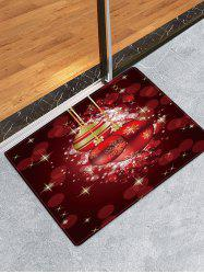 Christmas Balls Pattern Non-slip Water Absorption Area Rug -