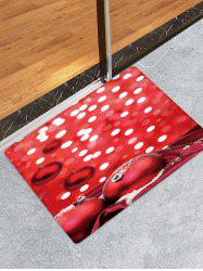 Christmas Balls Dots Pattern Water Absorption Area Rug -