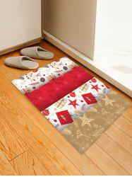 Christmas Theme Pattern Non-slip Water Absorption Area Rug -