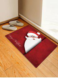 Christmas Santa Pattern Anti-skid Water Absorption Area Rug -