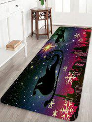 Christmas City Night Pattern Water Absorption Area Rug -