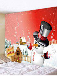 Merry Christmas Snowman Print Tapestry Art Decoration -