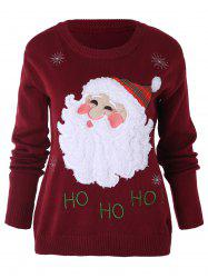 Santa Claus Pattern Xmas Sweater -