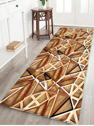 3D Wooden Hollow Out Printed Floor Rug -