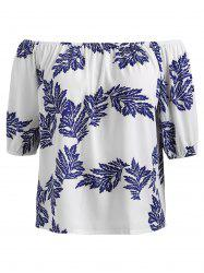 Plus Size Off The Shoulder Printed Top -