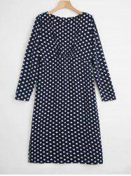Plus Size Polka Dot Bodycon Dress -
