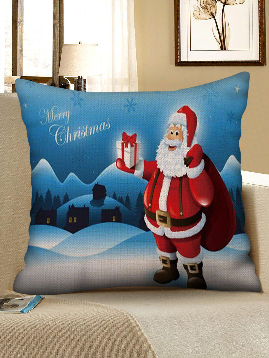New Snow Scenery Santa Claus Print Christmas Pillow Case