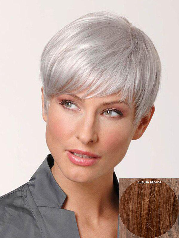 Buy Short Inclined Fringe Straight Pixie Human Hair Wig
