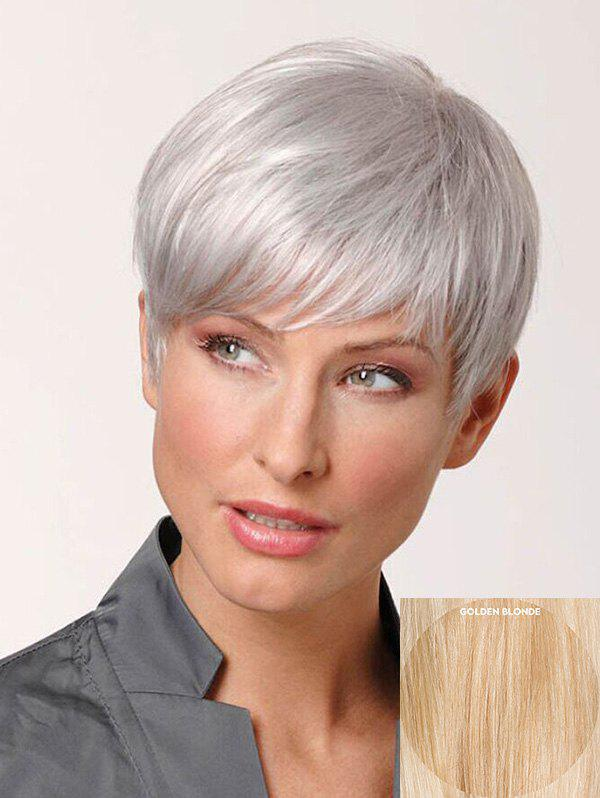 Store Short Inclined Fringe Straight Pixie Human Hair Wig