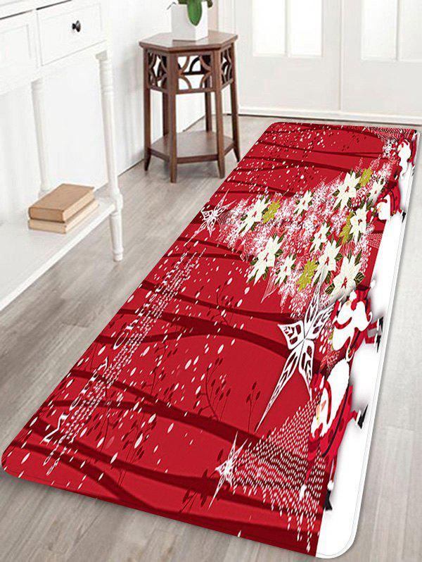 Affordable Christmas Floral Tree Pattern Anti-skid Area Rug