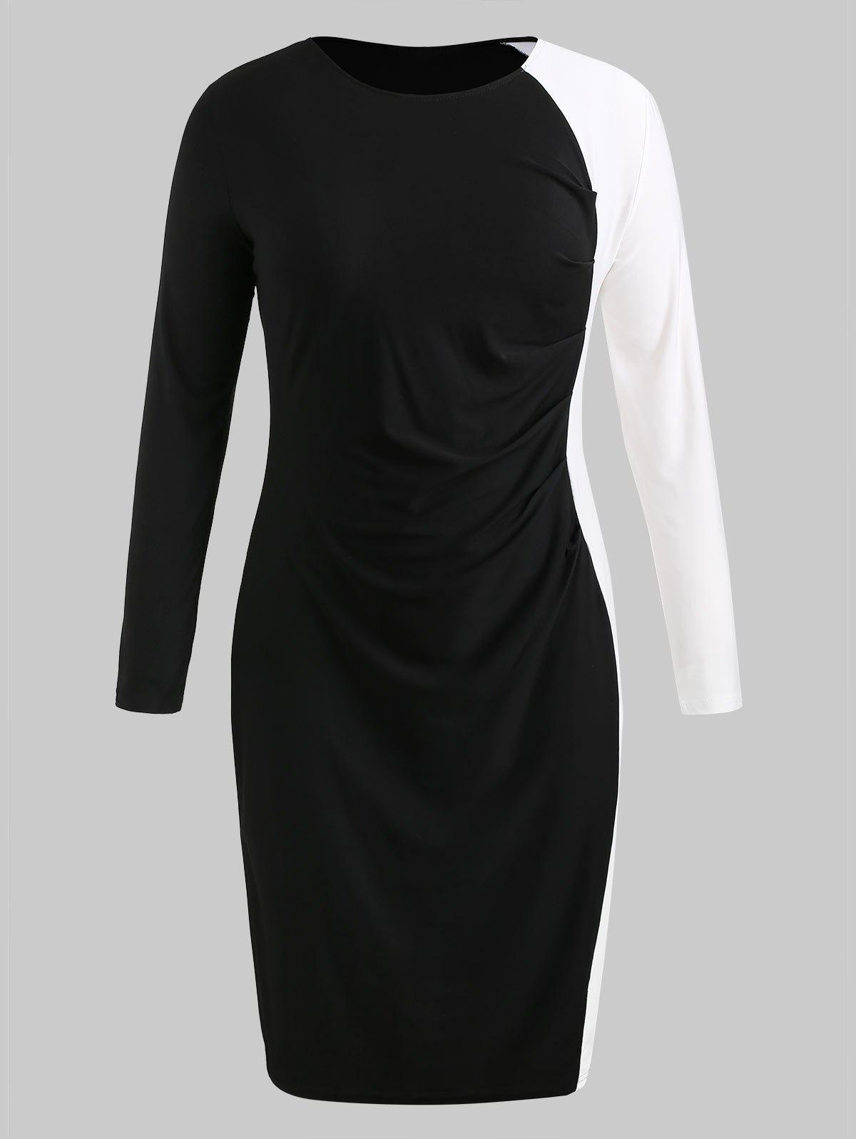 Robe moulante color block grande taille