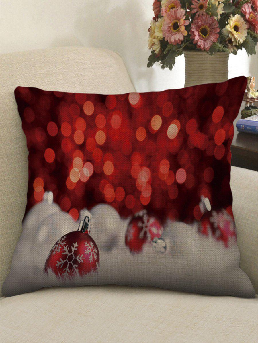 Sale Christmas Baubles Print Throw Pillow Case