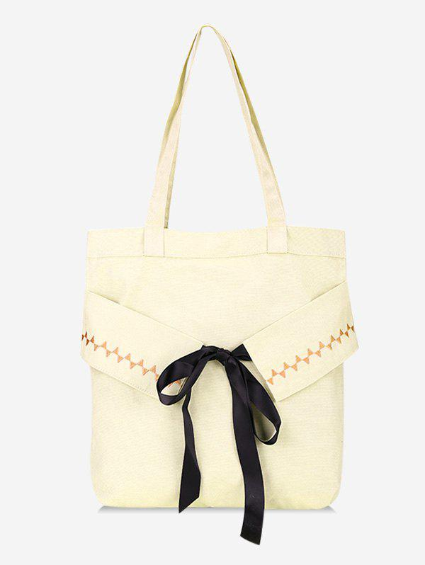 Hot Bowknot Large Capacity Canvas Shoulder Bag