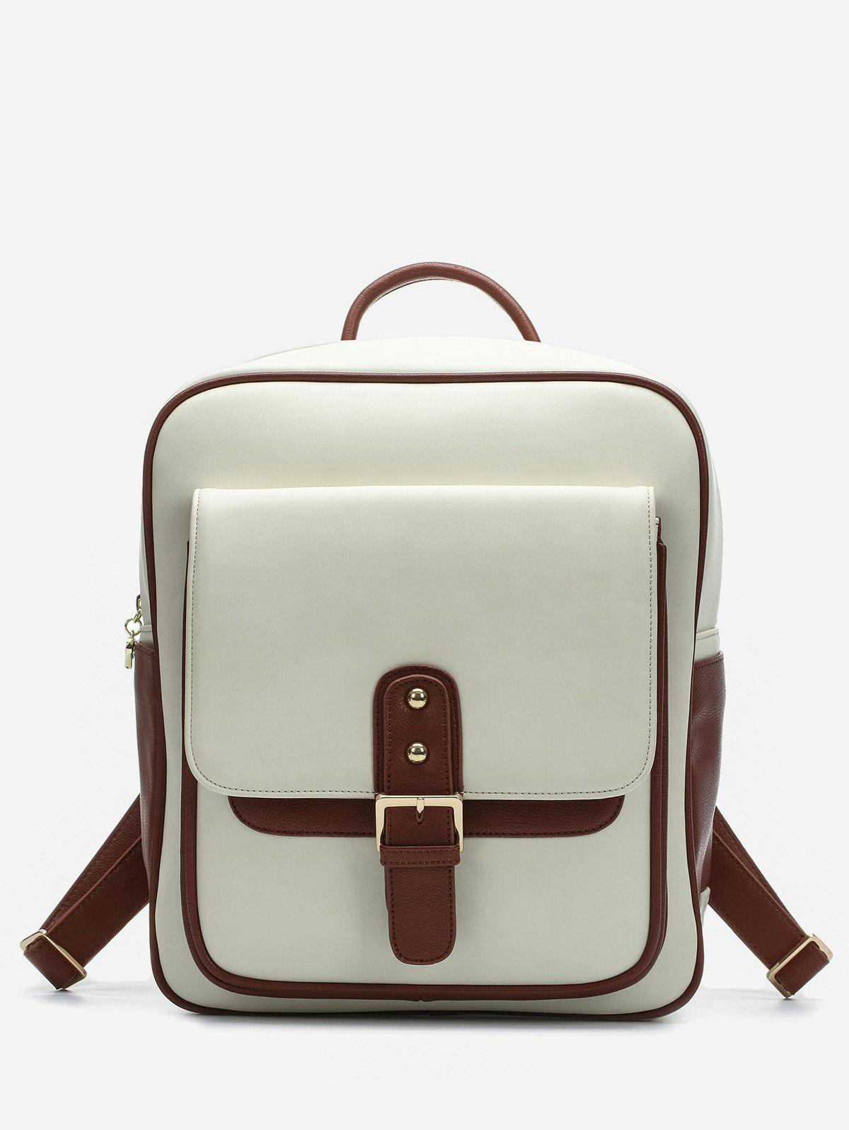 Chic Flap Pocket Top Handle Backpack