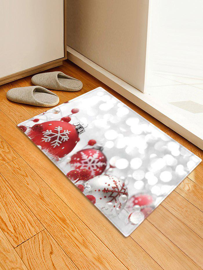 Hot Christmas Snowflakes Baubles Print Area Rug