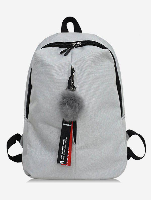 Affordable Letter Print Faux Fur Ball School Backpack