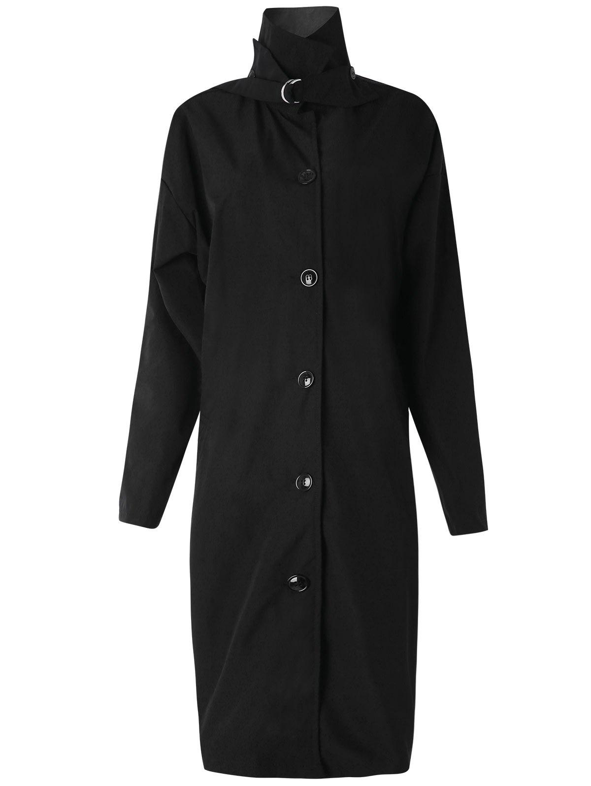 Cheap Buttone Up Longline Trench Coat