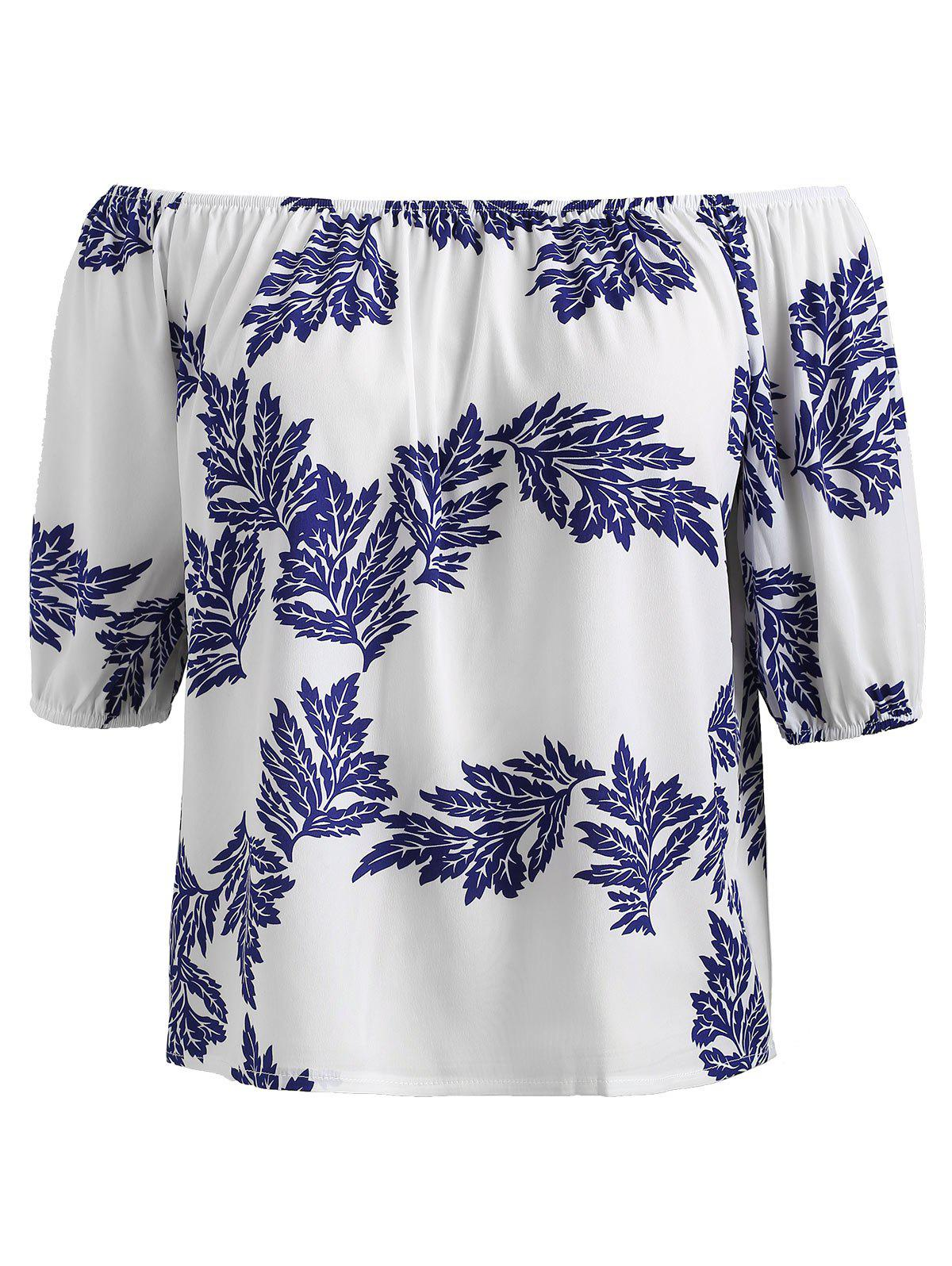 Outfits Plus Size Off The Shoulder Printed Top