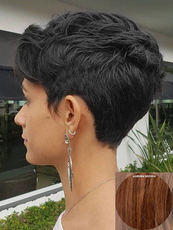 Shops Short Inclined Bang Natural Straight Human Hair Wig