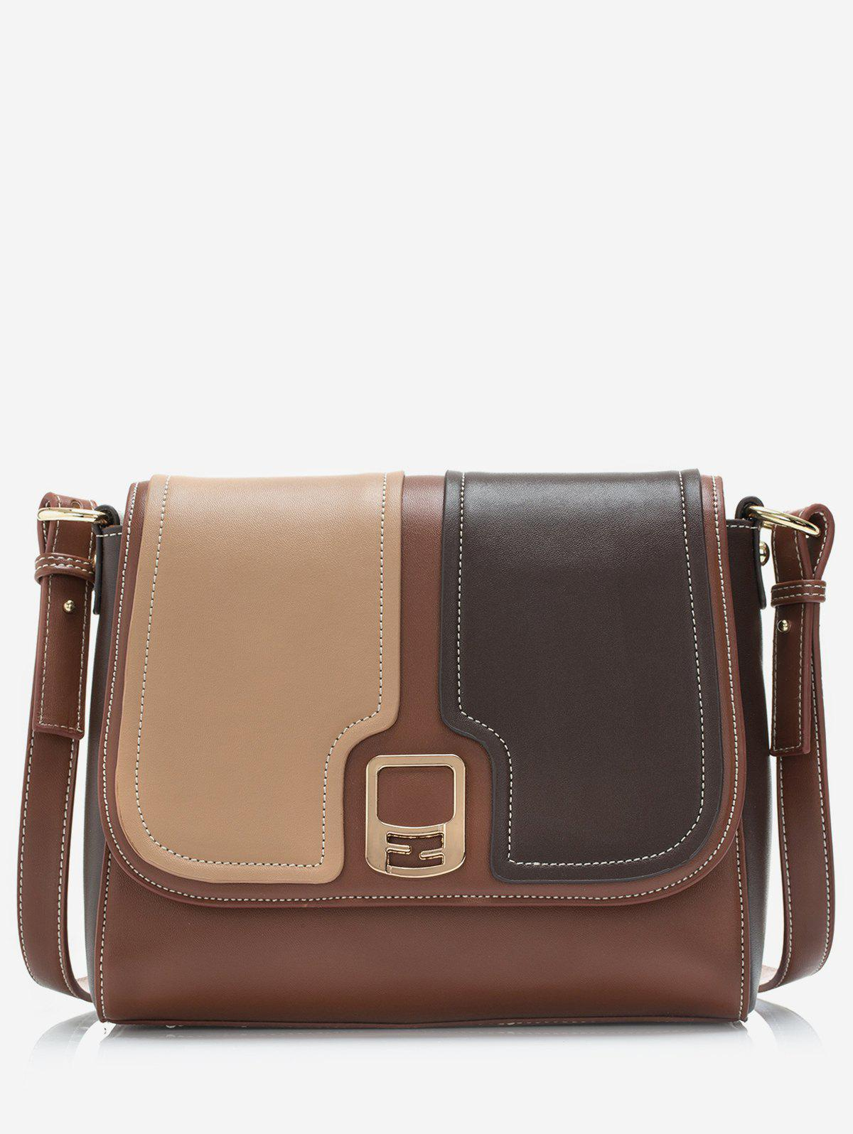 Outfits Contrast Color Flap Crossbody Bag