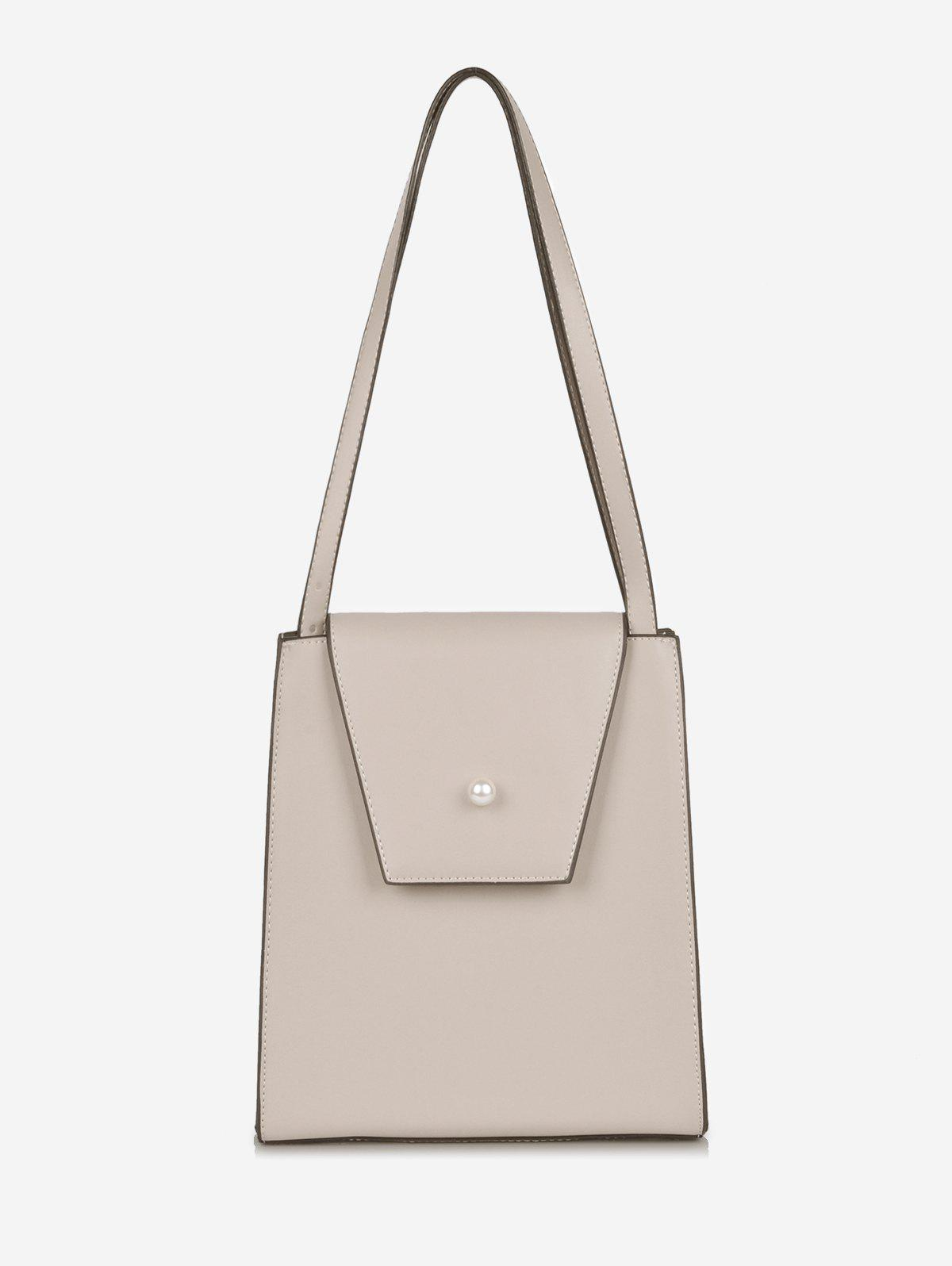 Chic Minimalist Faux Pearl Shoulder Bag