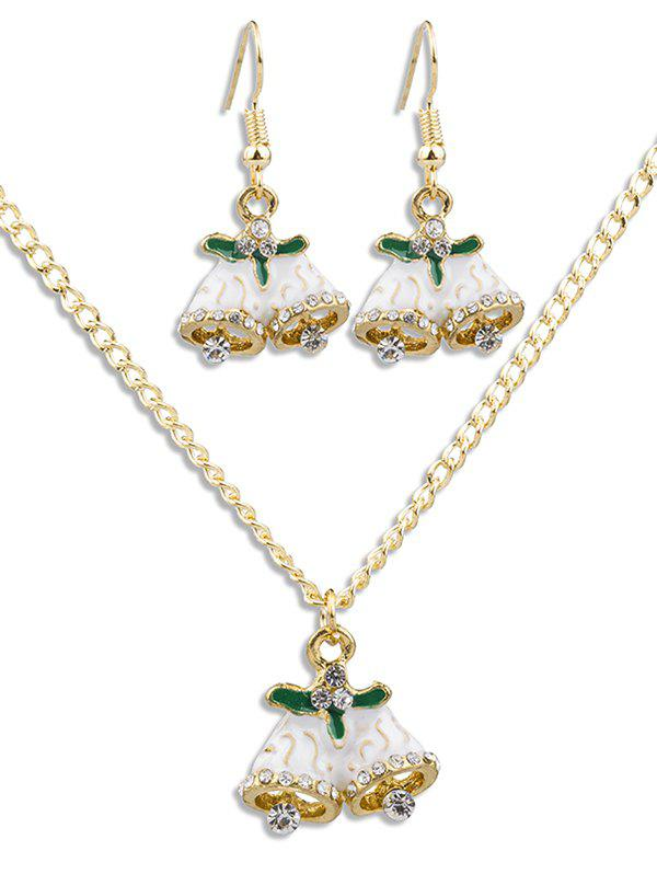 Latest Christmas Bell Rhinestone Alloy Jewelry Set